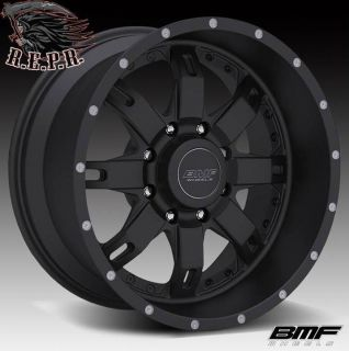 BMF Repr 20x9 Stealth Black Wheels 8x6 5 Chevy HD GMC HD RAM 2500 3500