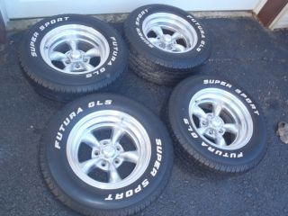 Corvette Camaro Firebird 15x8 American Racing Wheels with Tires SET (4
