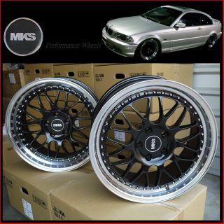 18 5x120 Staggered Deep Lip Wheels BMW 00 05 E46 3 Series 325i 323i