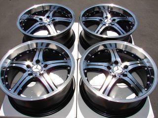 Polished Deep Dish Wheels S500 E320 S430 Mercedes Benz S600 5 Lug Rims