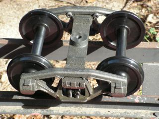 Set of Two Trucks with Steel Wheels 1 1 2 Scale 7 1 2 Gauge