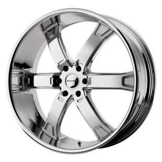 24 inch KMC Brodie Chrome Wheels Rims 6x4 5 6x114 3 Durango Dakota