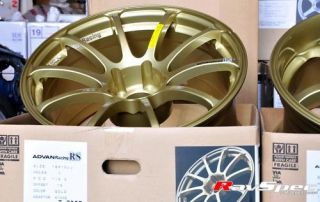 Advan RS JDM Tuning Wheels 18x10 0 15mm 5x114 Gold EVO x and GTR