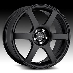 17 x7 5 MSR 090 0902 Black Wheels Rims 4 5 Lug