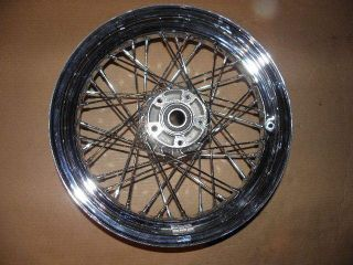 16 Chrome Spoked Front Wheel Rim New Harley Softail Heritage Classic