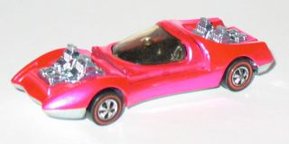 1970 Hot Wheels REDLINE   MOD QUAD   Hot Pink (RARE)   Near Mint w