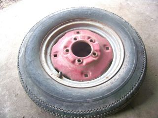Farmall Cub Tractor Front Rim and Tire