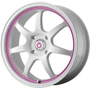 New 16x7 5x100 5x114 3 Konig White Wheels Rims