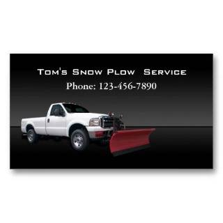 Snow Plow Truck Service Business Cards