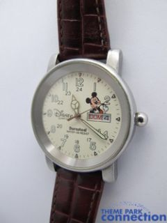 Disney Mickey Mouse Water Resistant Leather Band Date Indicator Watch
