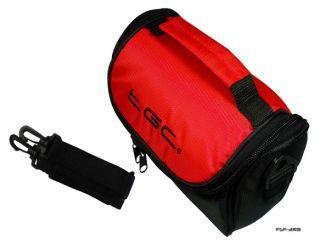 Crimson Red Black Carry Case Bag for Kodak EasyShare Max Z990 Camera