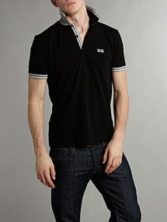 Hugo Boss Classic logo tipped detail polo shirt Black