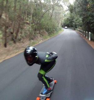 Downhill Skateboarding Street Luge Speed Kangaroo Leather Suit