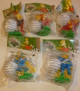 Lot 5 Soccer Toys UK Burger King Krusty Bart Lisa Mr Burns Otto