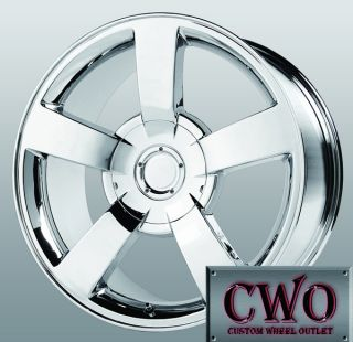 22 Chrome Replica Silverado SS Wheels 6x139 7 6 Lug Chevy GMC Titan