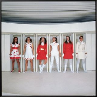 Models Wearing Fashions Designed by Andre Courreges Framed Canvas Print by Bill Ray