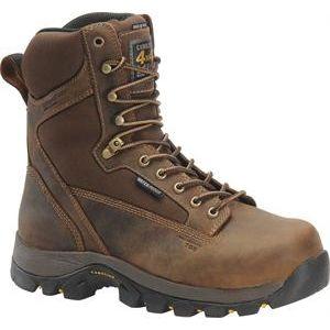 Carolina Mens 8 Inch Waterproof Insulated CT 4x4 Work Boot Copper Boots   CA4515