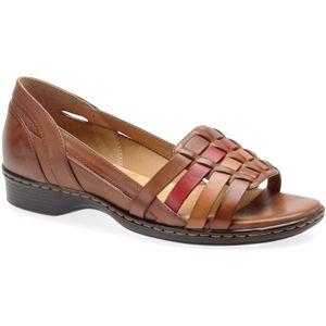 Softspots Womens Hugh Tobacco Multi Sandals   7325980