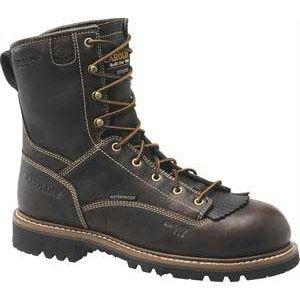 Carolina Mens 8 Inch Insulated Waterproof Work Boot Worn Saddle Black Boots   CA7013