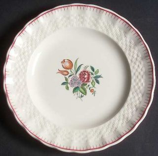 Spode French Flowers Bread & Butter Plate, Fine China Dinnerware   Red Border De