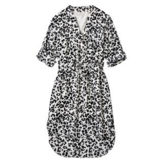 Merona Womens Drawstring Shirt Dress   Animal Print   XL