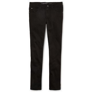 Arizona Colored Twill Skinny Jeans   Girls 6 16, Slim & Plus, Black, Girls