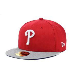 online store 37d28 9f44d best philadelphia phillies new era mlb team heather 59fifty cap baf6e 77947