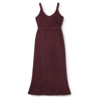 Merona Womens Plus Size Sleeveless V Neck Maxi Dress   Berry 4