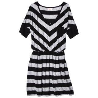 Mossimo Supply Co. Juniors V Neck Elbow Sleeve Dress   Black/Gray S(3 5)