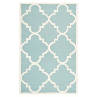 Safavieh Dhurries Light Blue/Ivory Rug DHU633C Rug Size: 6 x 9