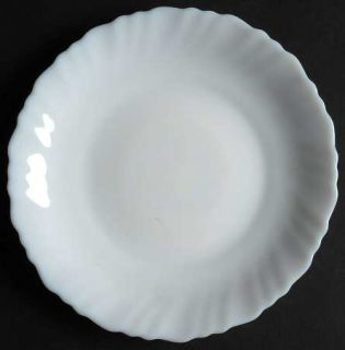 Arcopal Caracas Feston Uni Salad Plate, Fine China Dinnerware   White, Swirled,