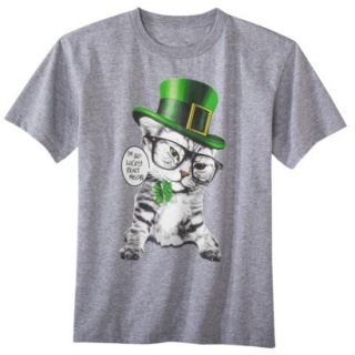 Boys St. Patricks Day Graphic Tee   Gray XS