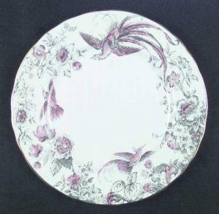 Royal Worcester Lakme Pink/Gray Dinner Plate, Fine China Dinnerware   Pink & Gra