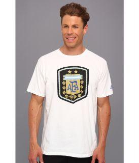adidas Futbol Crest   Argentina Mens T Shirt (White)