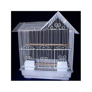 YML Villa Top Bird Cage 1754WHT 1754BLK Color White