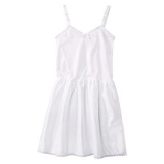 Girls Nylon Full Slip   White 10
