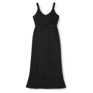 Merona Womens Plus Size Sleeveless V Neck Maxi Dress   Black 3