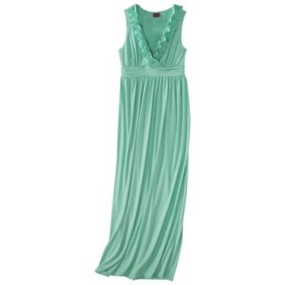 Merona Womens V Neck Ruffle Maxi Dress   Bering Sea   XL