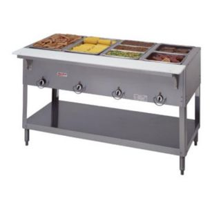 Duke Aerohot Steamtable Hot Food Unit, 4 Wells & Carving Board, 240/1 V