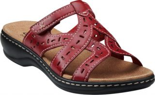 Womens Clarks Leisa Truffle   Red Full Grain Leather Casual Shoes