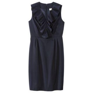 Merona Petites Sleeveless Sheath Dress   Blue 4P