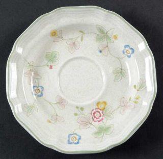 Mikasa Country Weekend Saucer, Fine China Dinnerware   Stoneware