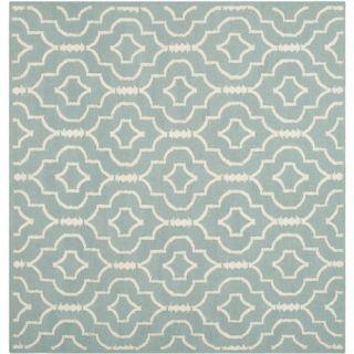 Safavieh Dhurries Light Blue/Ivory Rug DHU637C Rug Size: Square 6 x 6