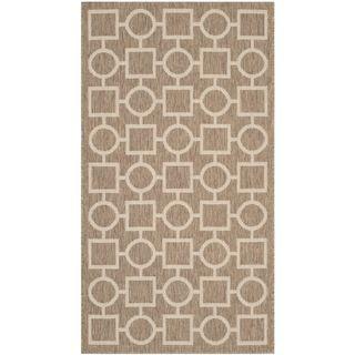 Safavieh Indoor/ Outdoor Courtyard Brown/ Bone Rug (2 X 37)