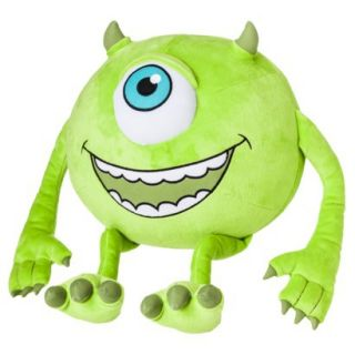 Disney Monsters University Mike Plush Cuddle Pillow   Green (15x15)