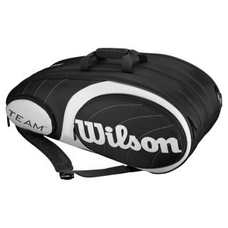 Wilson Team 12 Pack Tennis Bag Black and Silver