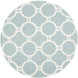 Safavieh Dhurries Light Blue/Ivory Rug DHU636C Rug Size: Round 6