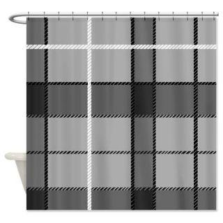 Gray Tartan Shower Curtain Use Code FREECART At Checkout