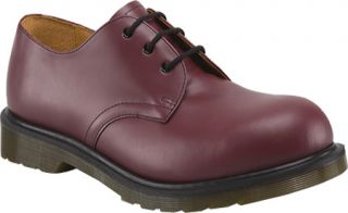Dr. Martens 1925 5400 PW 3 Eye Steel Toe Shoe   Cherry Red Smooth Casual Shoes