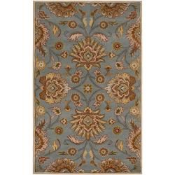 Hand tufted Wool Blue Auld Rug (5 X 8)